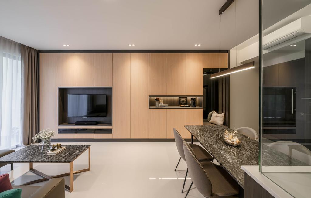 Contemporary, Condo, Living Room, North Park Residences, Interior Designer, Weiken.com