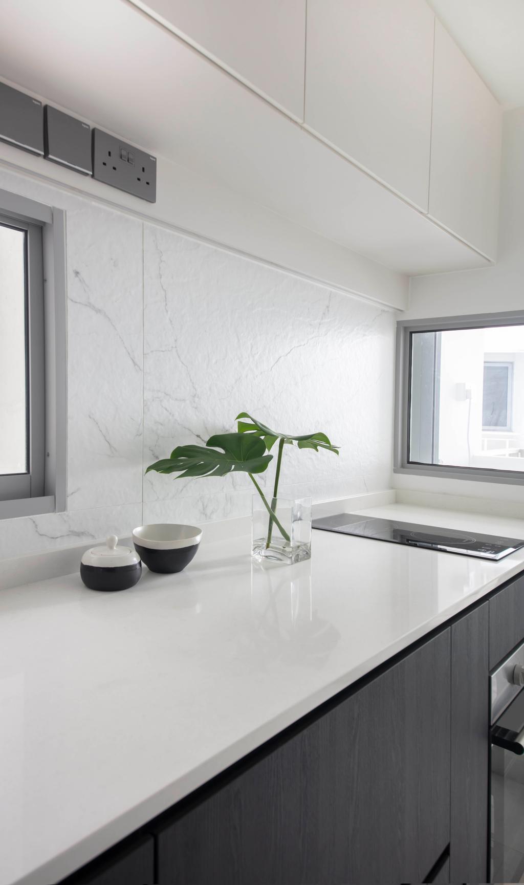 Contemporary, HDB, Kitchen, Boon Keng Road, Interior Designer, KDOT