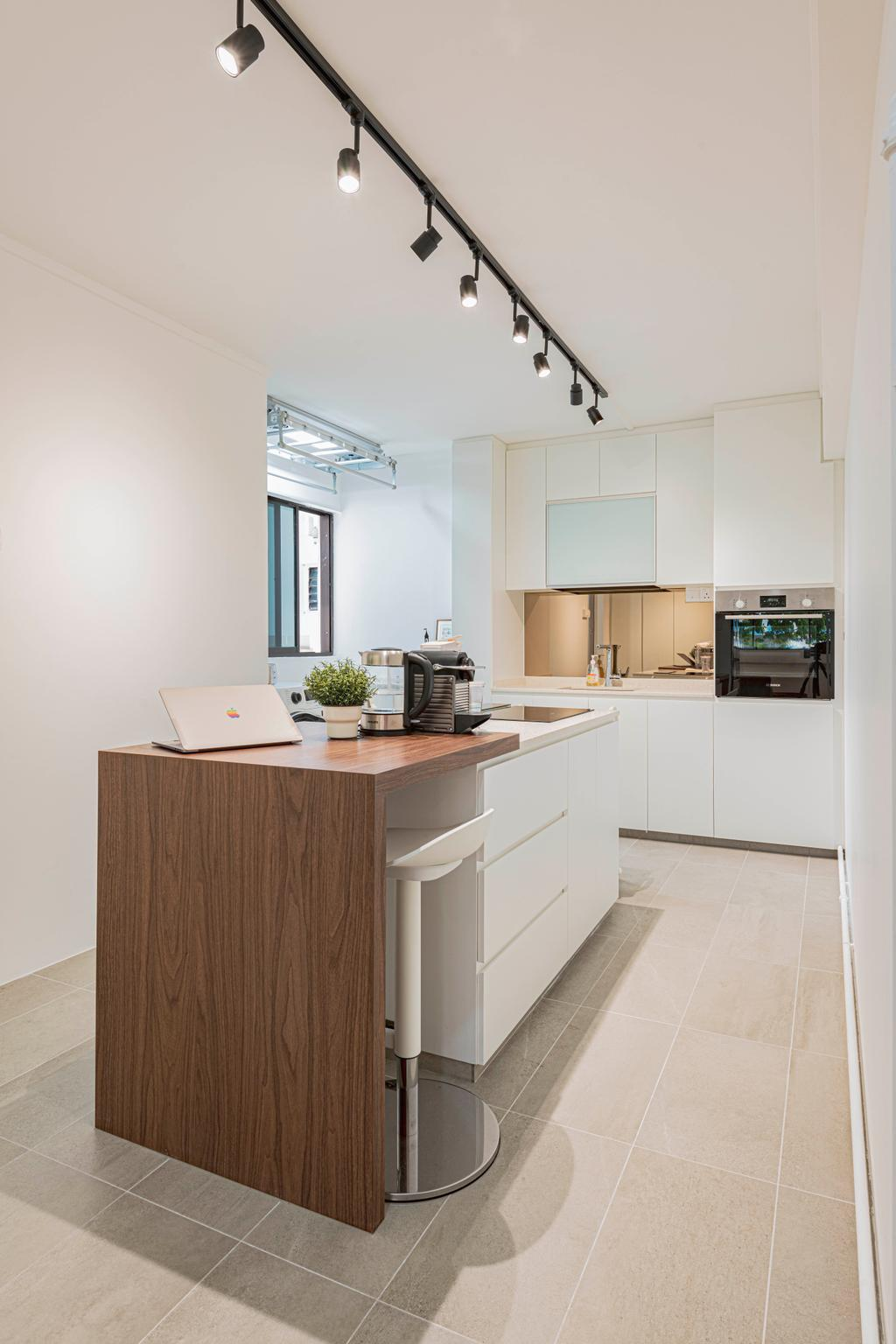 Contemporary, HDB, Kitchen, Yishun Street 72, Interior Designer, Style Living Interior, Kitchen Island