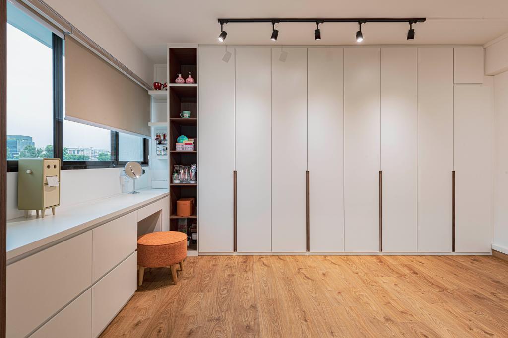 Contemporary, HDB, Bedroom, Yishun Street 72, Interior Designer, Style Living Interior, Vanity, Wardrobe, Walk In Wardrobe