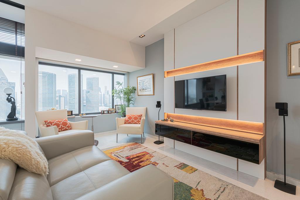 Modern, Condo, Living Room, The Plaza @Beach Road, Interior Designer, VNA Design