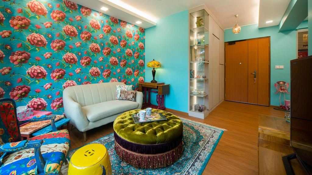 Vintage, HDB, Living Room, Toa Payoh East, Interior Designer, Great Oasis Interior Design