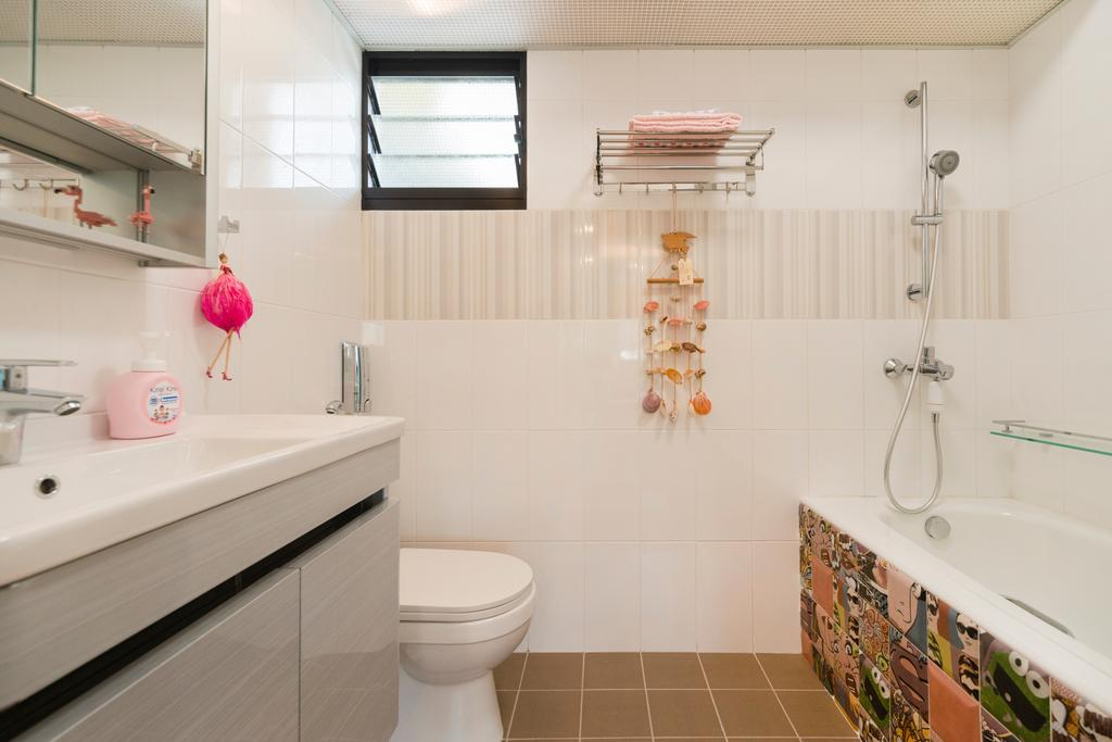 Vintage, HDB, Bathroom, Toa Payoh East, Interior Designer, Great Oasis Interior Design, Bath Tub
