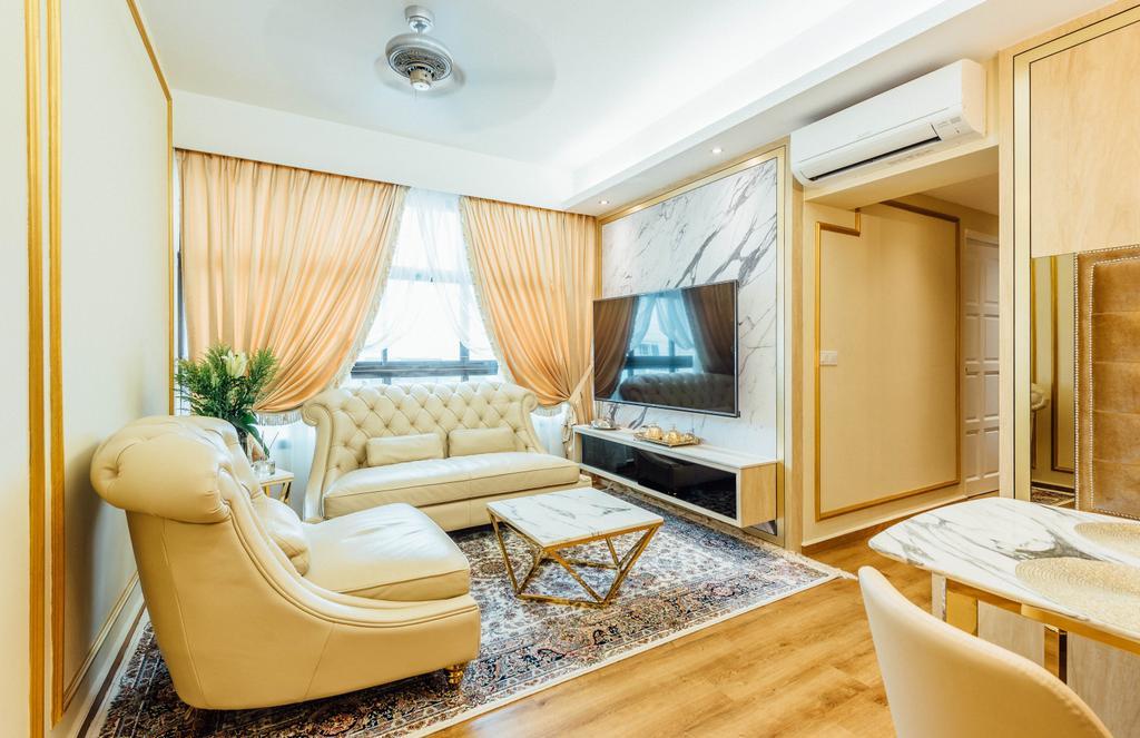 Modern, HDB, Living Room, Geylang Serai, Interior Designer, Fatema Design Studio