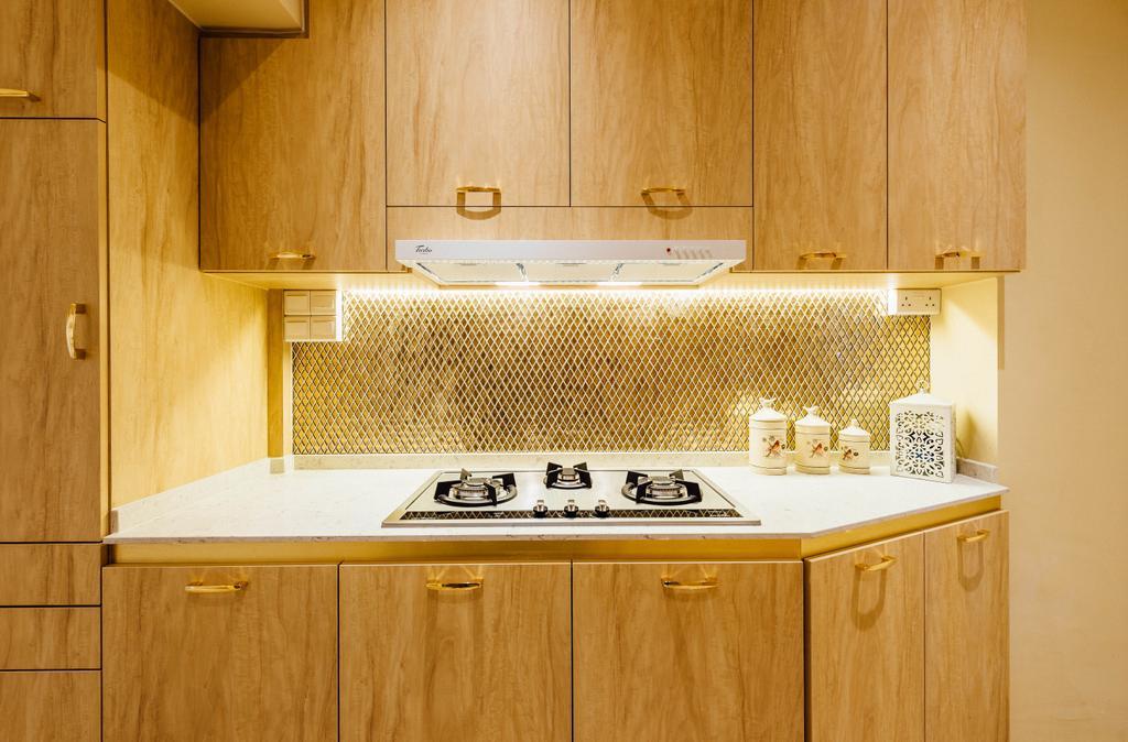Modern, HDB, Kitchen, Geylang Serai, Interior Designer, Fatema Design Studio