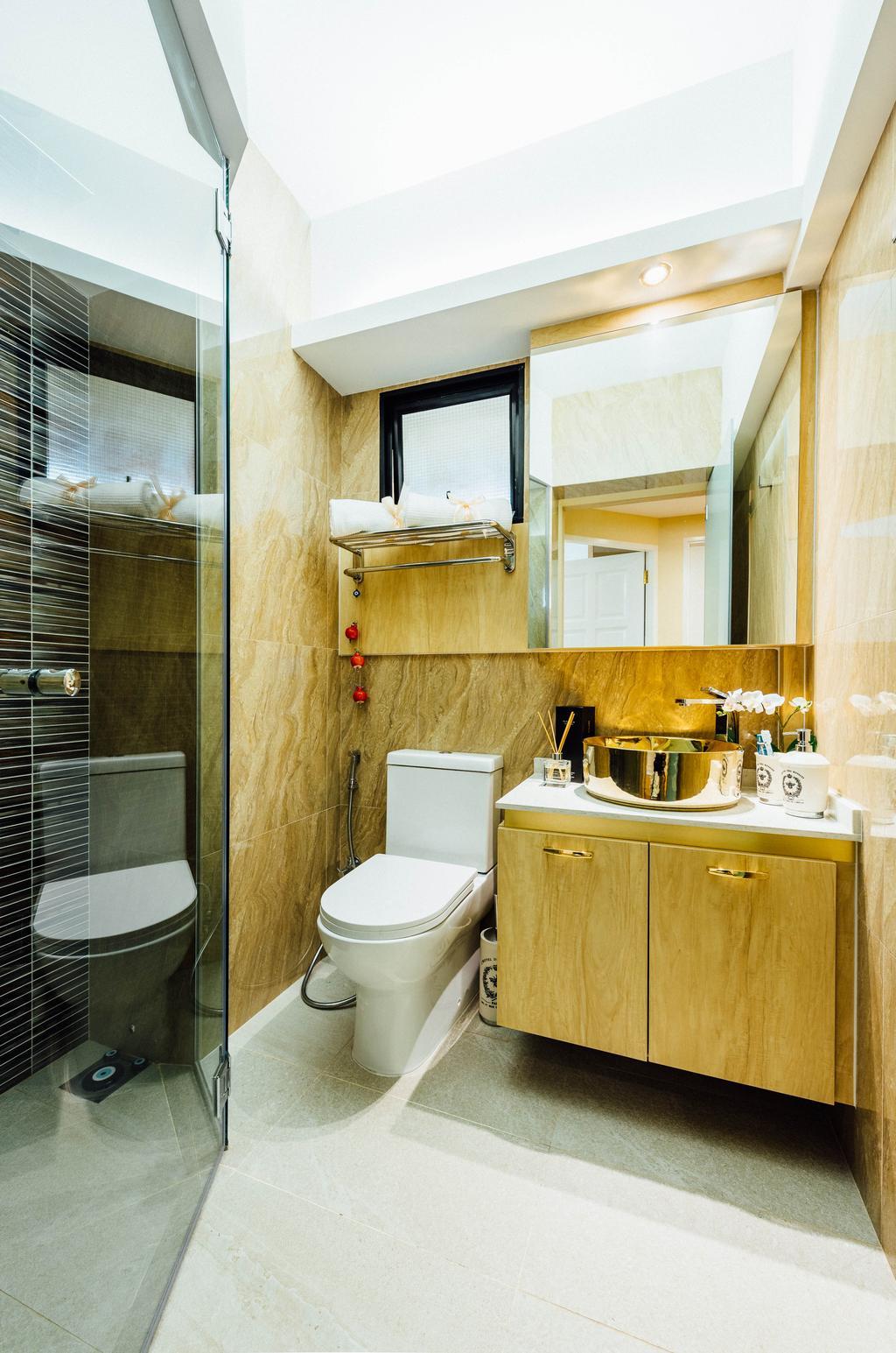 Modern, HDB, Bathroom, Geylang Serai, Interior Designer, Fatema Design Studio