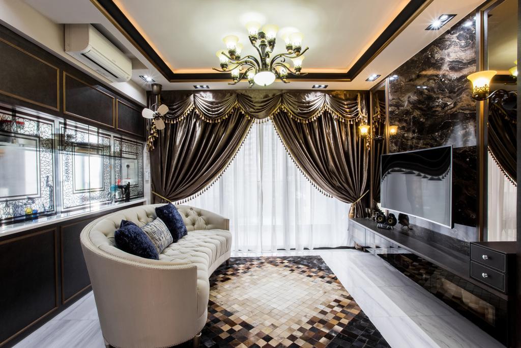 Eclectic, Condo, Living Room, The Poiz Residence, Interior Designer, De Exclusive Design Group