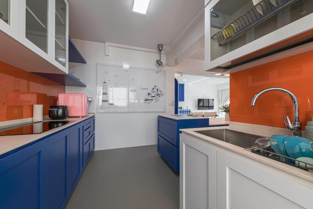 Eclectic, HDB, Kitchen, Woodlands Street 13, Interior Designer, De Exclusive Design Group