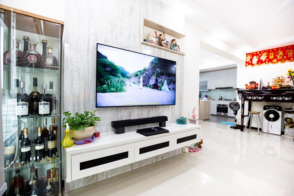 Contemporary, HDB, Living Room, Woodlands Street 13, Interior Designer, Laurus Design