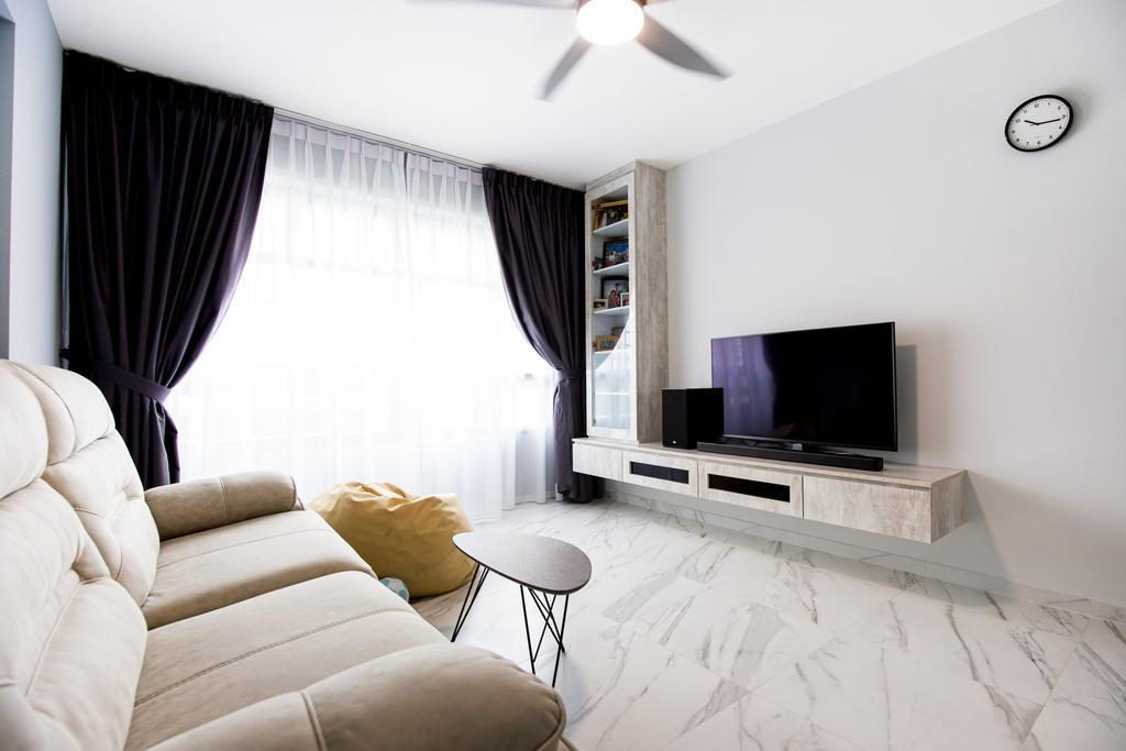 Contemporary, HDB, Living Room, Tampines Street 61, Interior Designer, Laurus Design