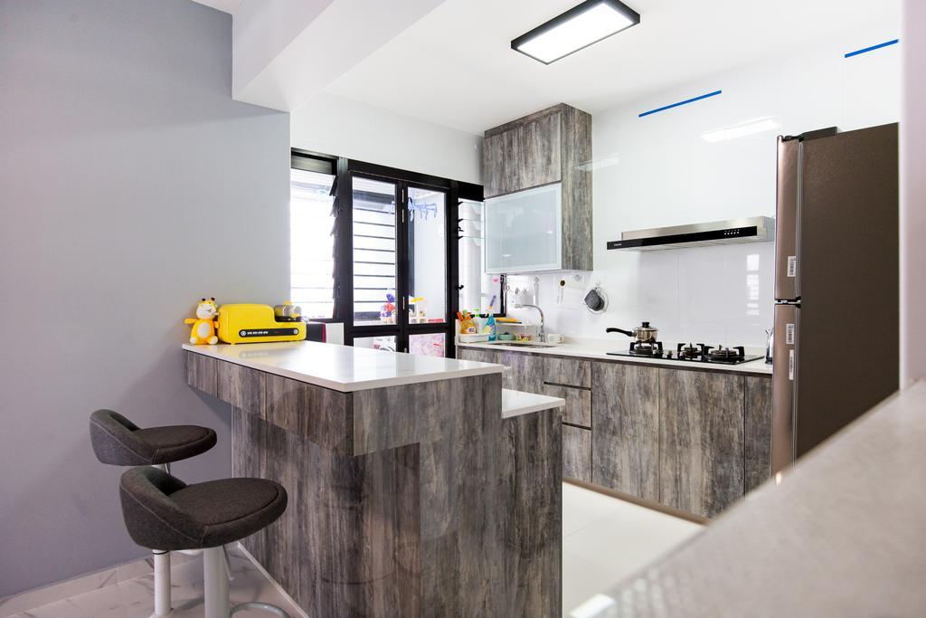 Contemporary, HDB, Kitchen, Tampines Street 61, Interior Designer, Laurus Design