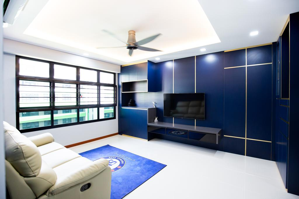 Contemporary, HDB, Living Room, Tampines Avenue 9, Interior Designer, Laurus Design