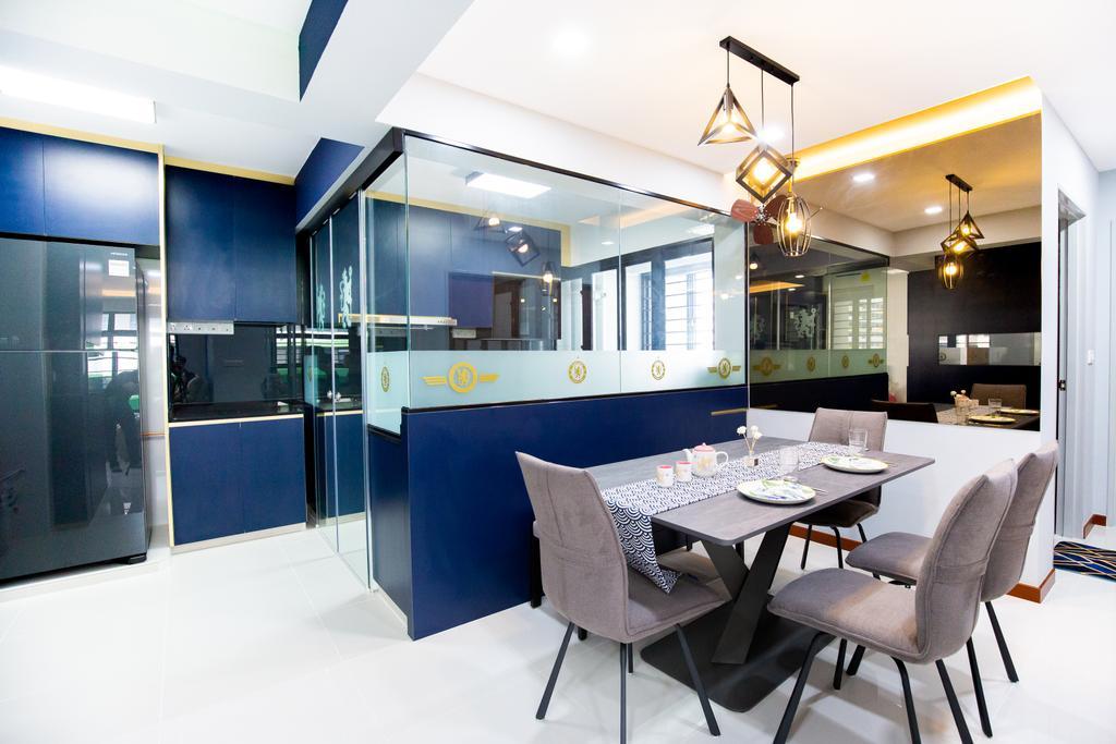 Contemporary, HDB, Dining Room, Tampines Avenue 9, Interior Designer, Laurus Design