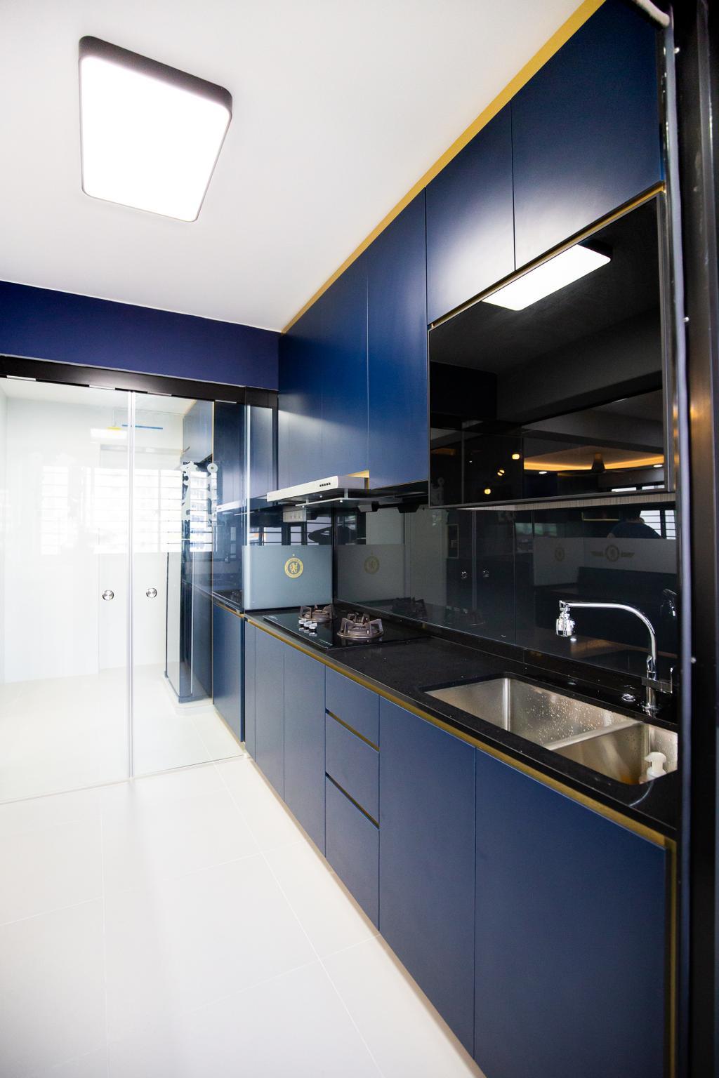 Contemporary, HDB, Kitchen, Tampines Avenue 9, Interior Designer, Laurus Design