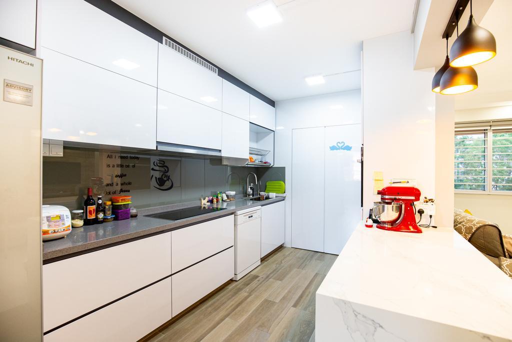 Minimalistic, HDB, Kitchen, Tampines Street 45, Interior Designer, Laurus Design