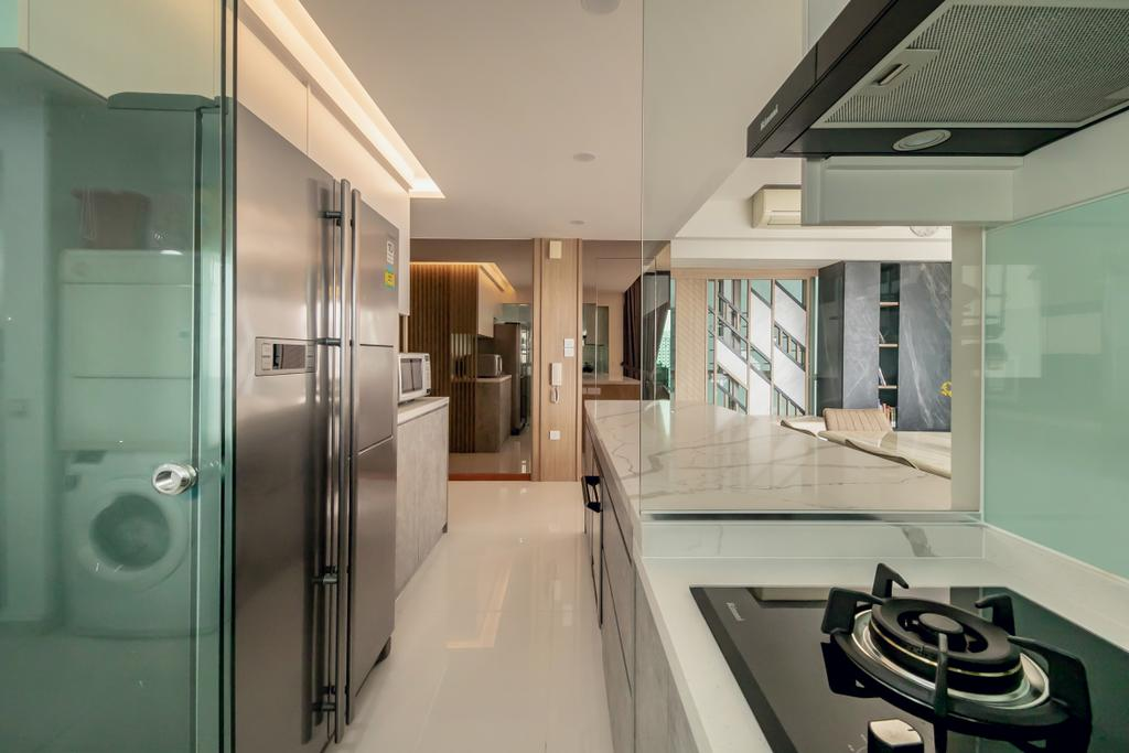 Contemporary, Condo, Kitchen, Trevista, Interior Designer, Space Atelier