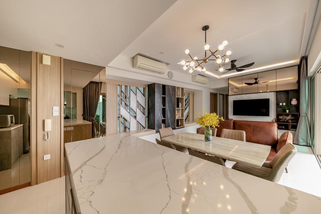 Contemporary, Condo, Living Room, Trevista, Interior Designer, Space Atelier