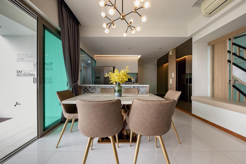 Contemporary, Condo, Dining Room, Trevista, Interior Designer, Space Atelier
