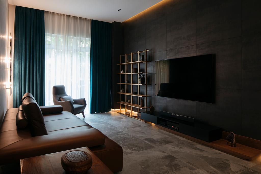 Modern, Condo, Living Room, Seletar Springs, Interior Designer, Hall Interiors, Industrial