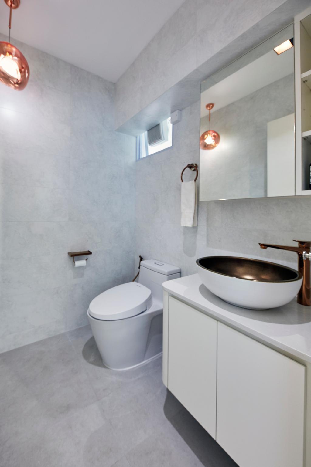 Modern, HDB, Bathroom, Upper Boon Keng Road, Interior Designer, The Interior Lab, Minimalist