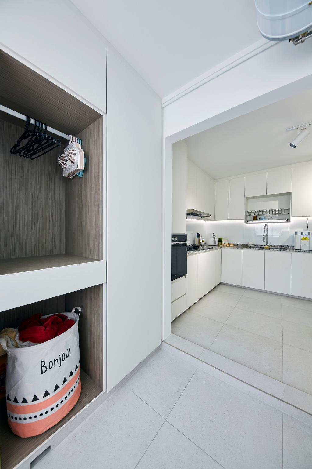 Modern, HDB, Kitchen, Upper Boon Keng Road, Interior Designer, The Interior Lab, Minimalistic