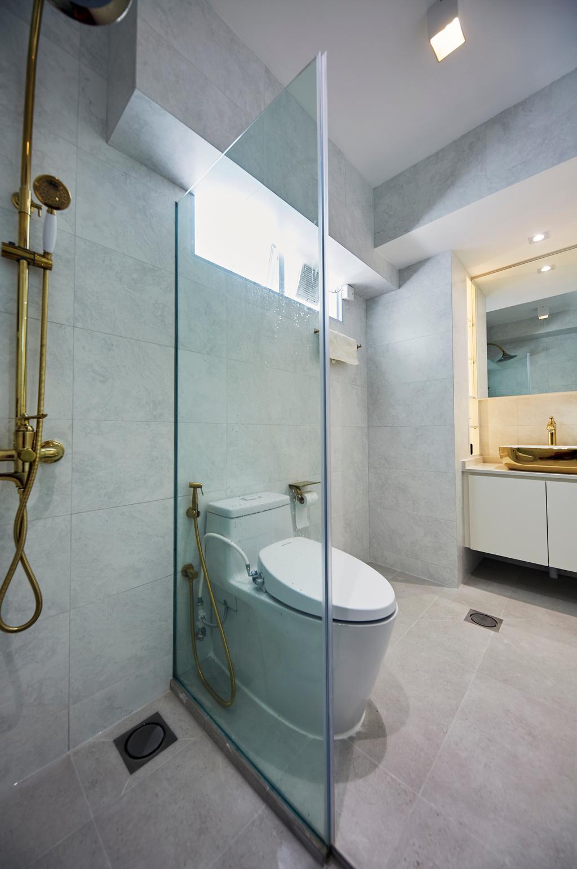 Modern, HDB, Bathroom, Upper Boon Keng Road, Interior Designer, The Interior Lab, Minimalistic