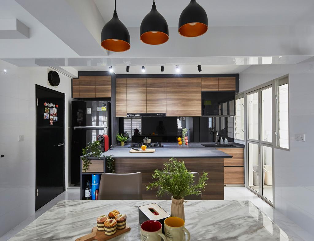 Modern, HDB, Dining Room, Punggol Bayview, Interior Designer, The Interior Lab, Scandinavian
