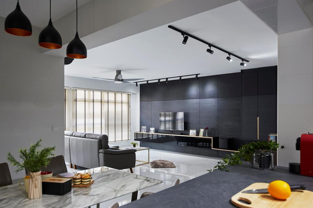 Punggol Bayview Living Room Interior Design 6