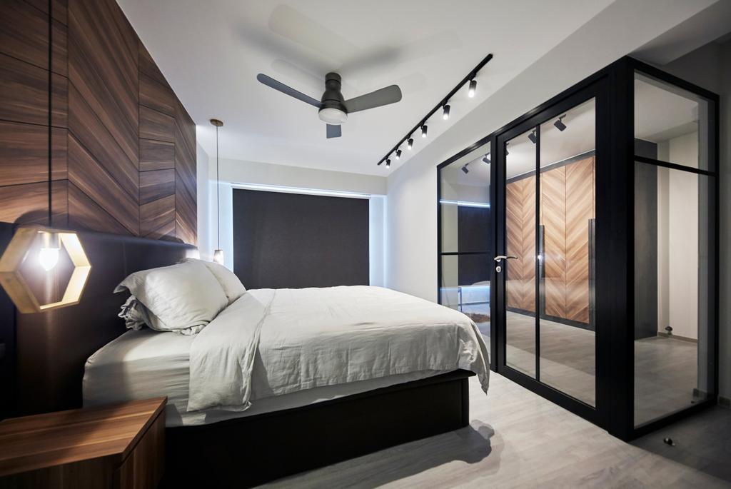 Modern, HDB, Bedroom, Punggol Bayview, Interior Designer, The Interior Lab, Scandinavian