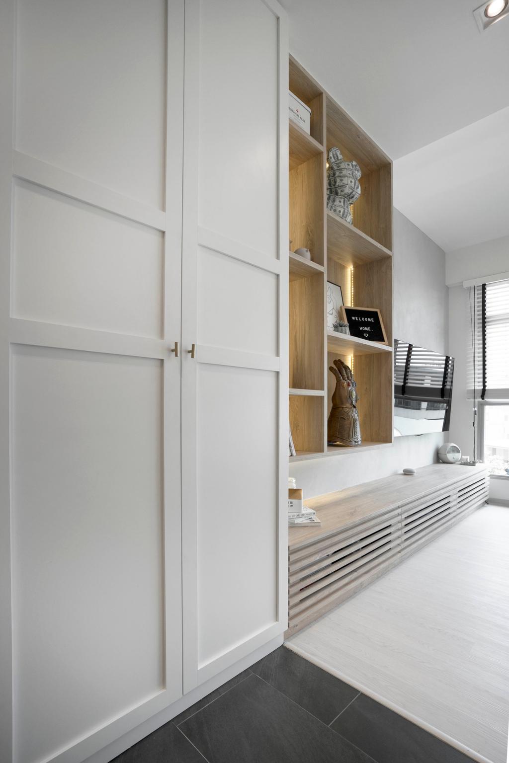 Scandinavian, HDB, Clementi Avenue 3, Interior Designer, Lemonfridge Studio