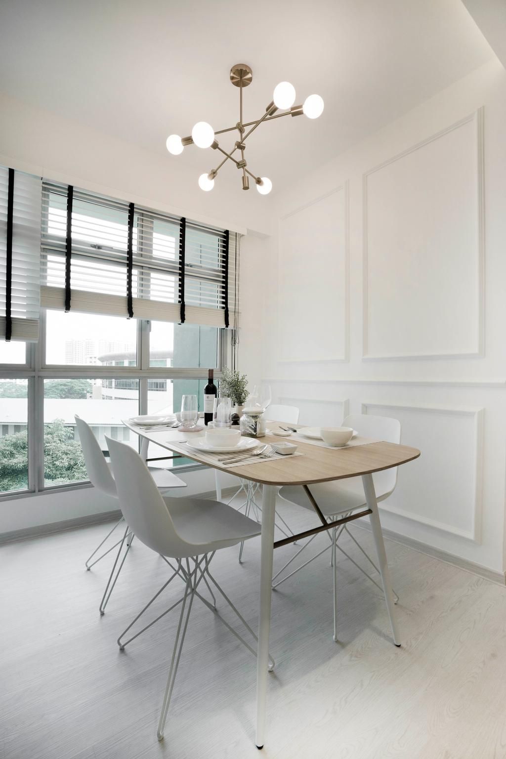 Scandinavian, HDB, Dining Room, Clementi Avenue 3, Interior Designer, Lemonfridge Studio