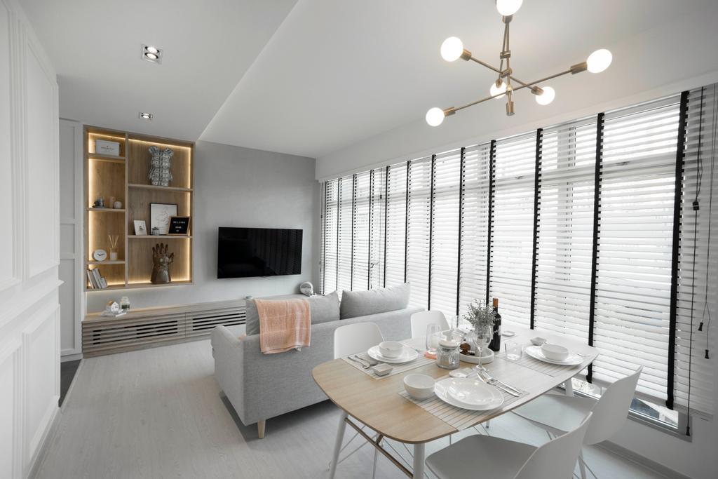 Scandinavian, HDB, Living Room, Clementi Avenue 3, Interior Designer, Lemonfridge Studio