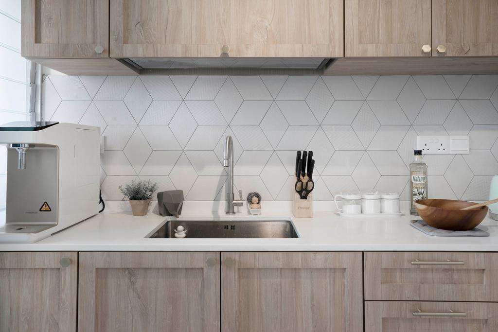 Scandinavian, HDB, Kitchen, Clementi Avenue 3, Interior Designer, Lemonfridge Studio