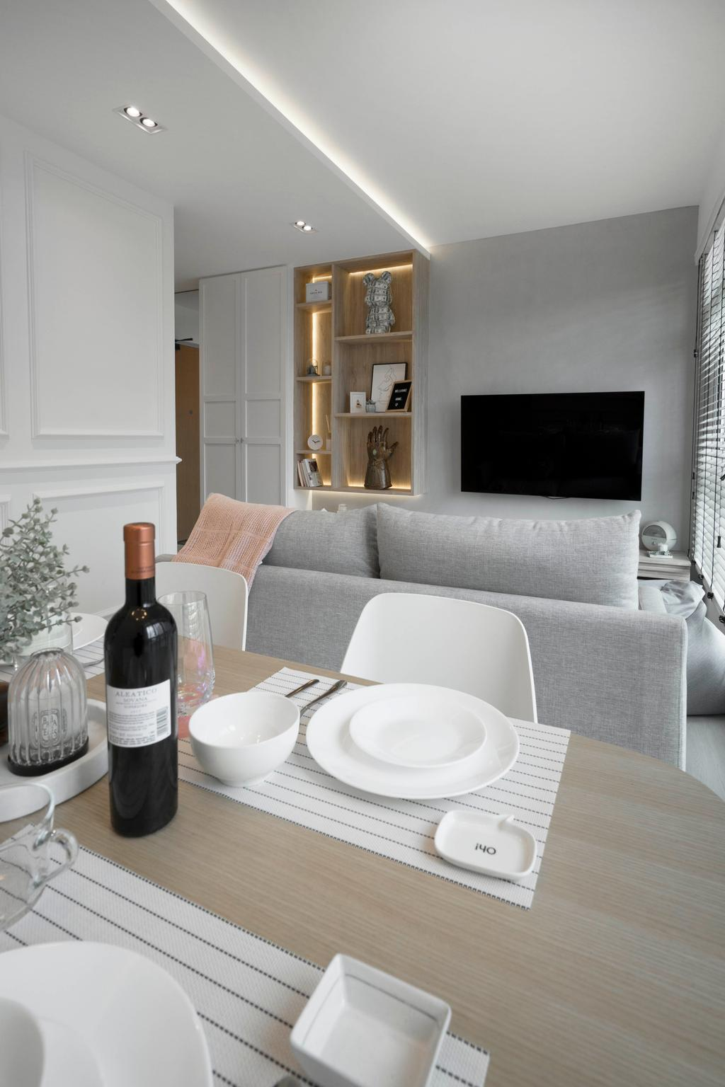 Scandinavian, HDB, Dining Room, Clementi Avenue 3, Interior Designer, Lemonfridge Studio