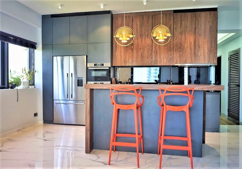 Eclectic, Condo, Kitchen, Bayshore, Interior Designer, Regiis Design