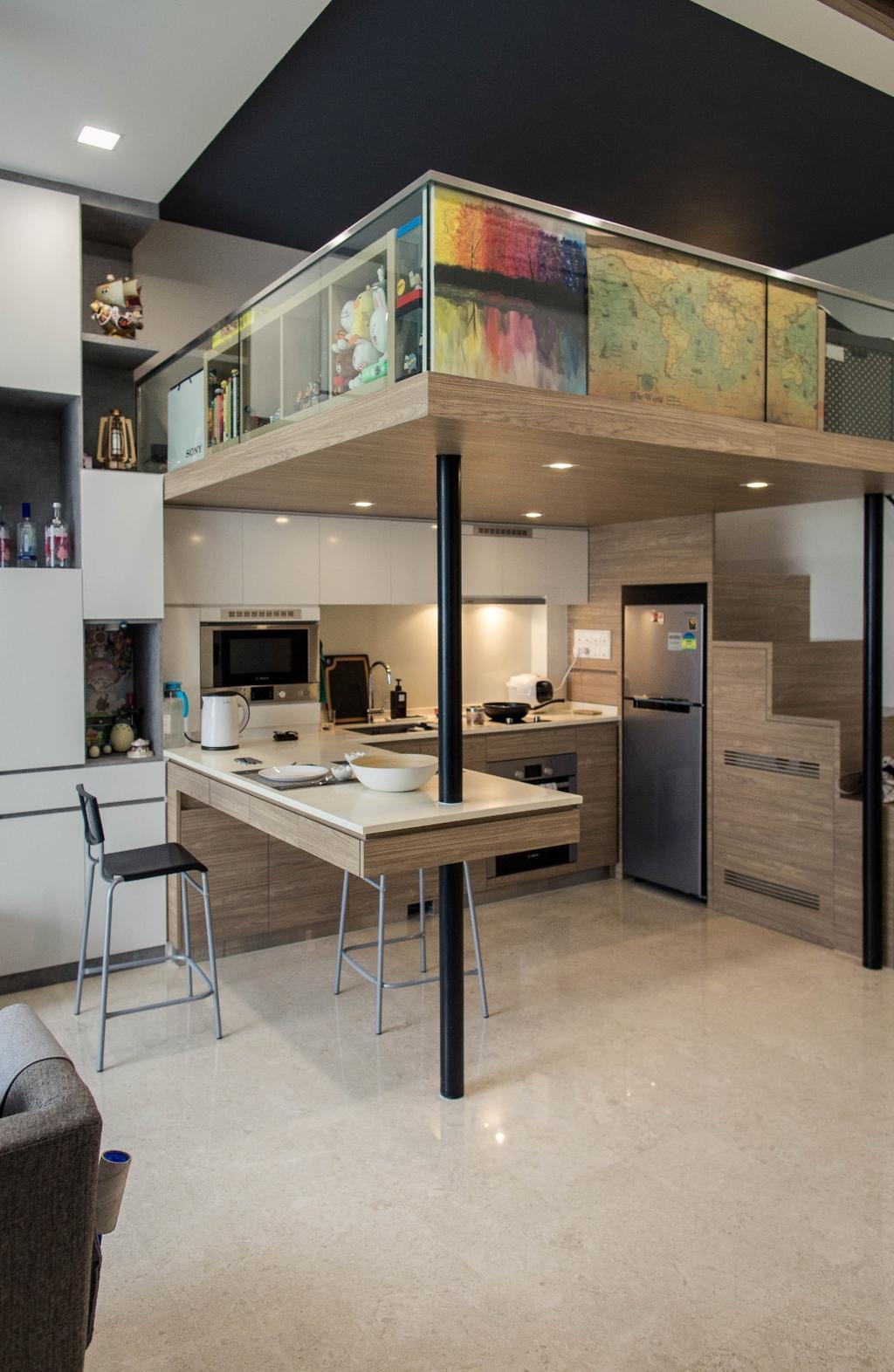Modern, Condo, Kitchen, The Tennery, Interior Designer, Regiis Design