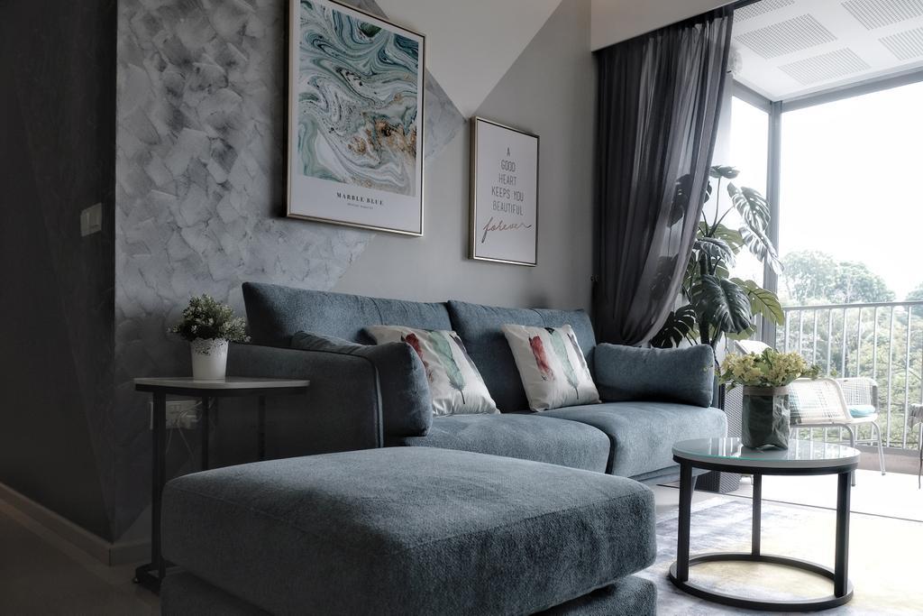 Modern, Condo, Living Room, Visionaire, Interior Designer, United Team Lifestyle