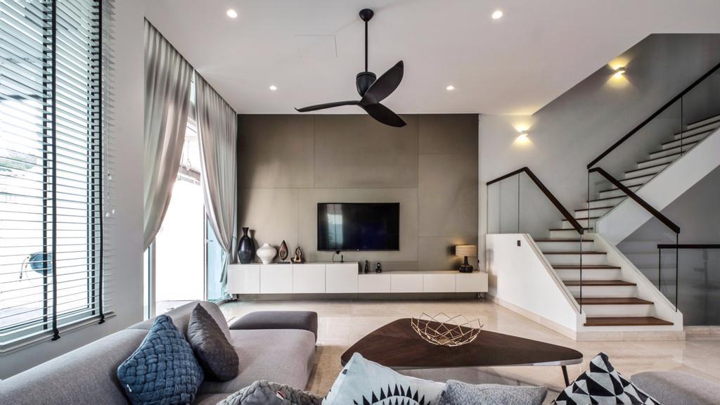 Contemporary, Landed, Living Room, Jalan Resak, Interior Designer, United Team Lifestyle