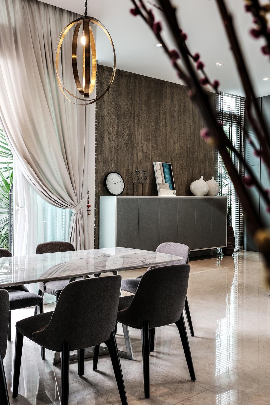 Contemporary, Landed, Dining Room, Jalan Resak, Interior Designer, United Team Lifestyle