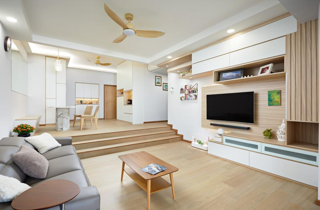Scandinavian, Condo, Living Room, The Windsor, Interior Designer, Design 4 Space