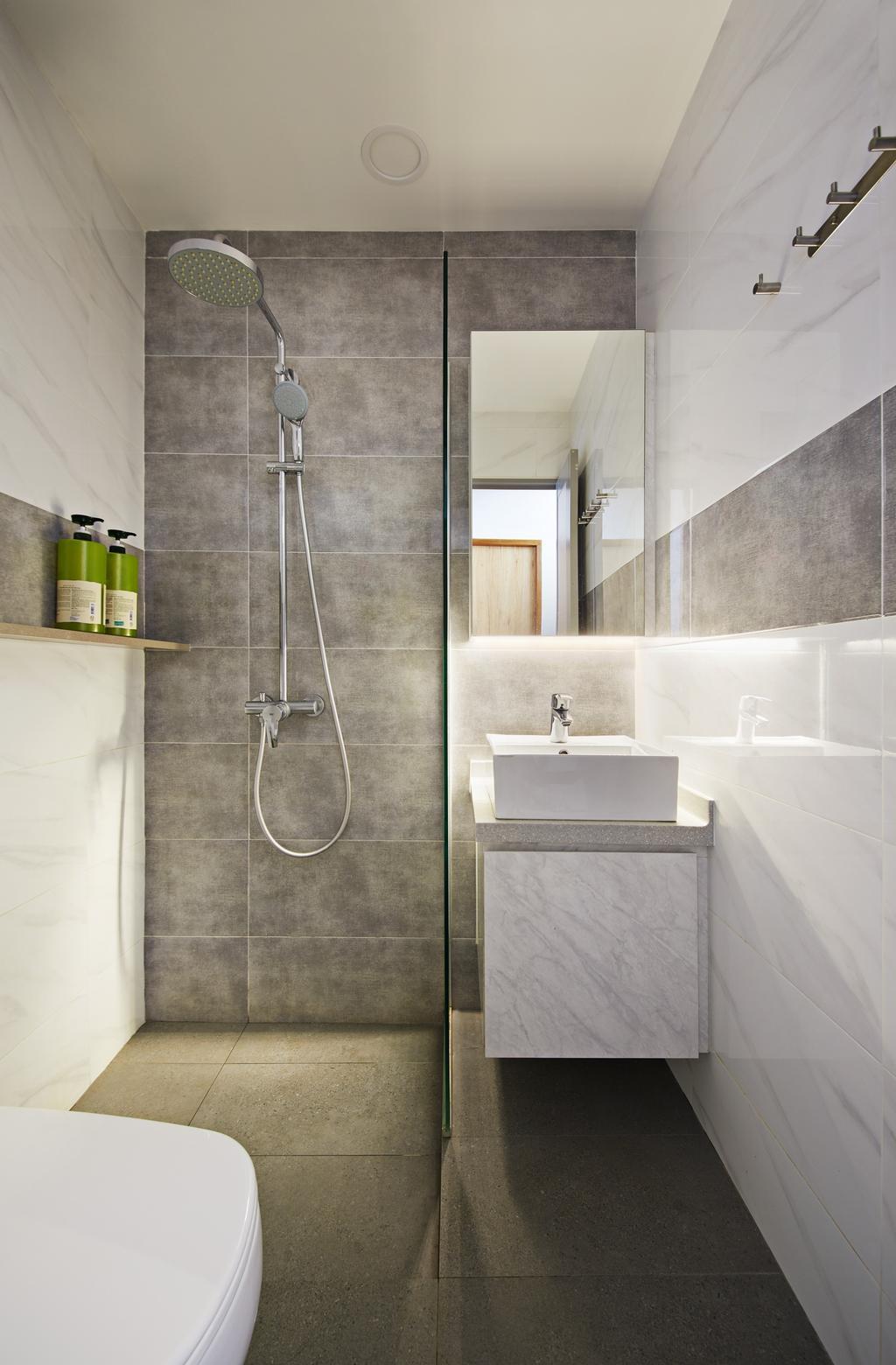 Scandinavian, Condo, Bathroom, The Windsor, Interior Designer, Design 4 Space