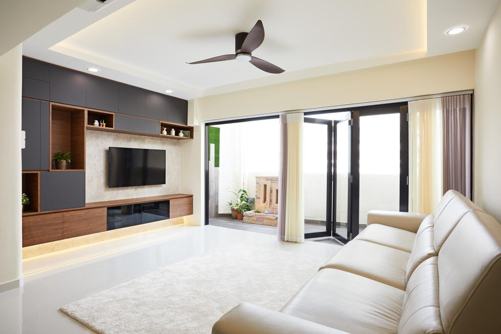 Contemporary, HDB, Living Room, Jurong East Avenue 1, Interior Designer, Design 4 Space