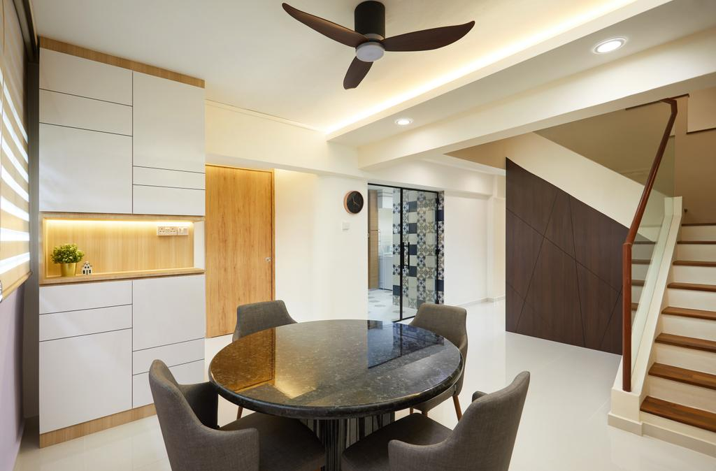 Contemporary, HDB, Dining Room, Jurong East Avenue 1, Interior Designer, Design 4 Space