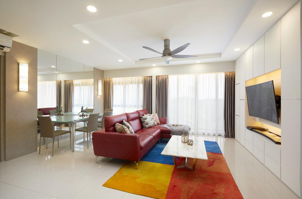Contemporary, HDB, Living Room, Anchorvale Crescent, Interior Designer, Design 4 Space