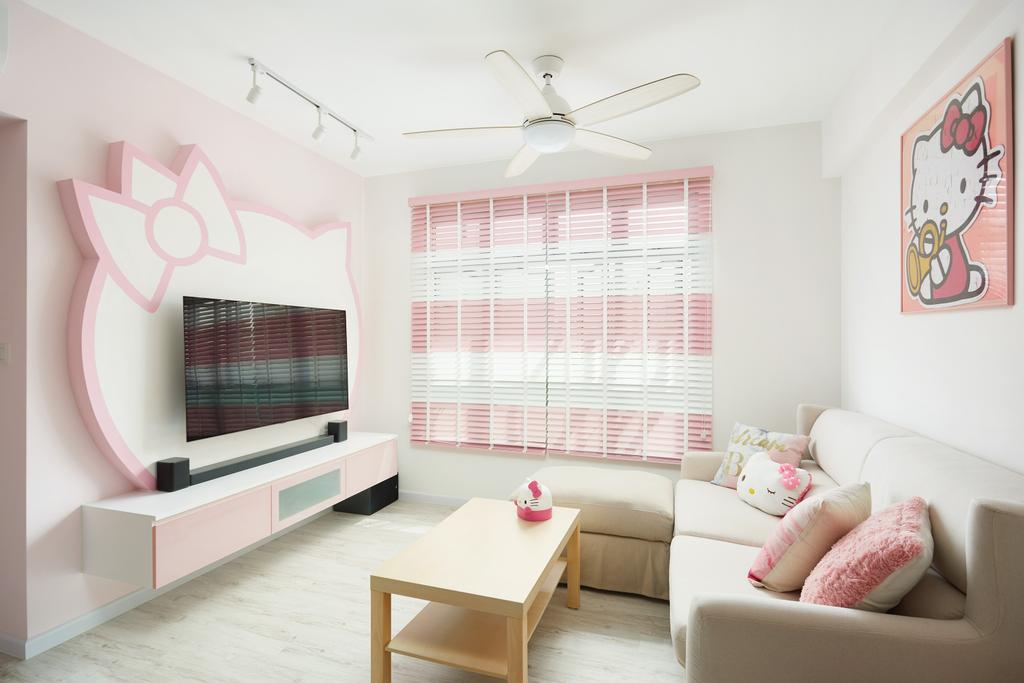 Contemporary, HDB, Living Room, Henderson Road, Interior Designer, Design 4 Space