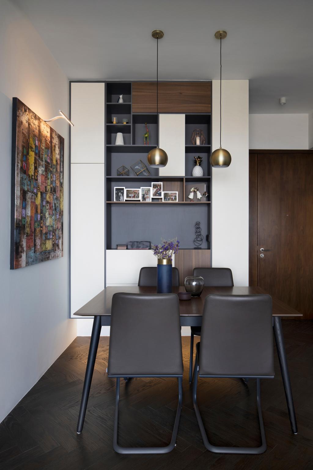 Contemporary, Condo, Dining Room, Spottiswoode Residence, Interior Designer, Fuse Concept
