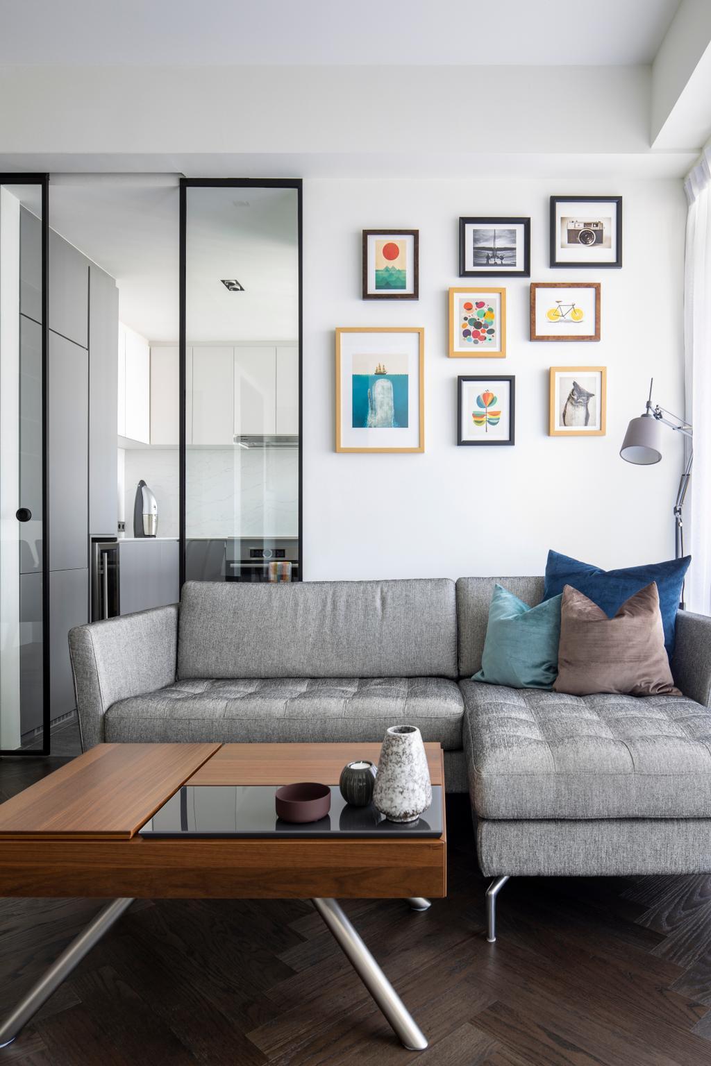 Contemporary, Condo, Living Room, Spottiswoode Residence, Interior Designer, Fuse Concept