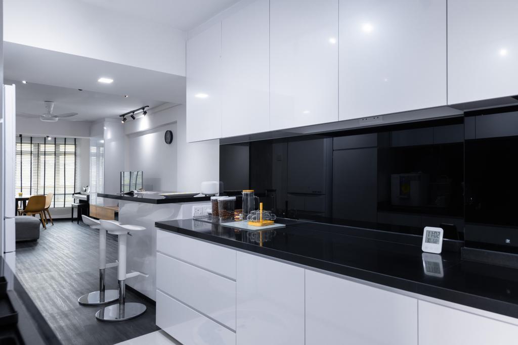 Minimalistic, HDB, Kitchen, Dover Crescent, Interior Designer, The Orange Cube, Contemporary