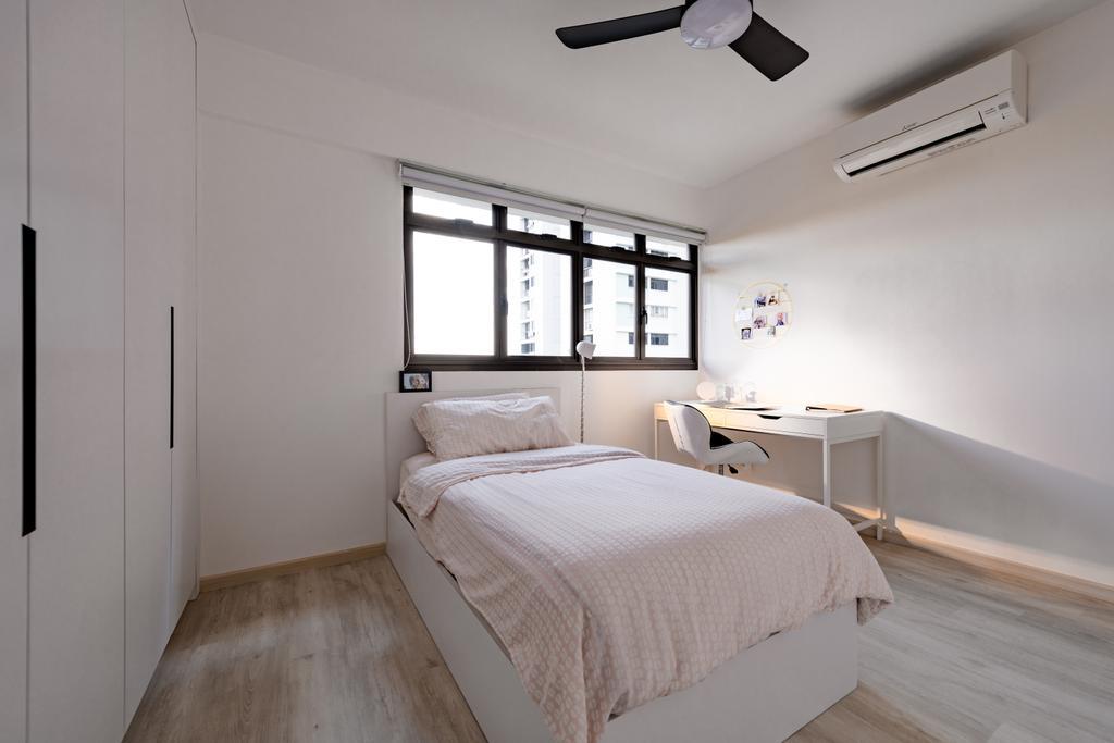 Minimalistic, HDB, Bedroom, Dover Crescent, Interior Designer, The Orange Cube, Contemporary