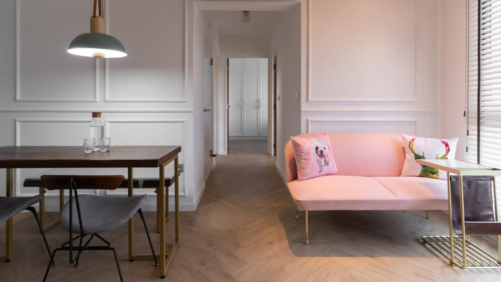 Contemporary, HDB, Living Room, Commonwealth Drive, Interior Designer, Arche Interior